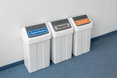 Hinweisaufkleber für Müllbehälter