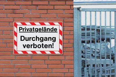 "Hinweissymbol ""Durchgang verboten"""