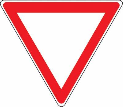Kein Vortritt - Verkehrszeichen SSV Schweiz