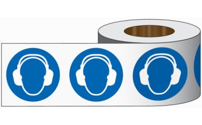 """Wand-Markierband """"Gehörschutz benutzen"""""""