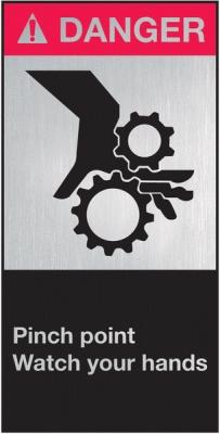 Maschinenbeschilderung ANSI.Z 535 DANGER Pinch point
