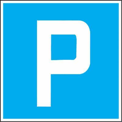 Parkieren gestattet - Verkehrszeichen SSV Schweiz