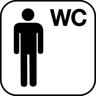 Piktogramme für Herren WC's