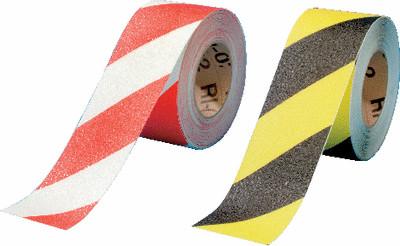Antirutsch-Warnbänder rot weiß und gelb schwarz