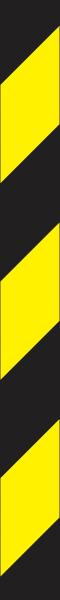 Warnband gelb schwarz linksweisend