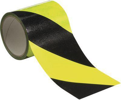 Selbstklebendes Warnband gelb schwarz