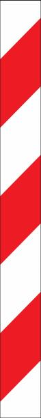 Warnband rot weiß linksweisend