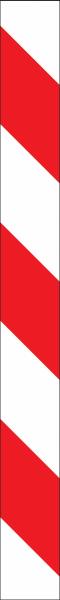 Warnband rot weiß rechtsweisend
