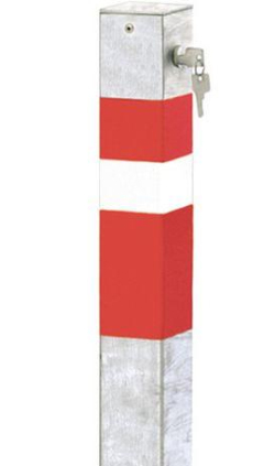 Absperrpfosten mit Profilzylinderschloss