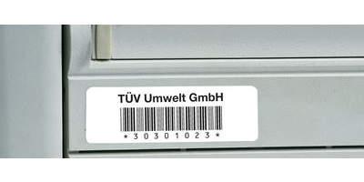 Barcode-Etiketten, individuell, aus Polyester, übertragungssicher