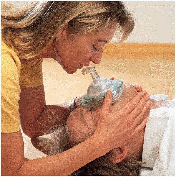 Beatmungsmaske mit Rückschlagventil