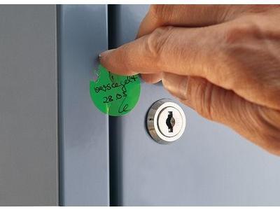 Sicherheits-Siegel, rund, farbcodiert