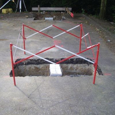 Stahl-Absperrbarrieren, quadratisch