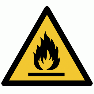 Warnung vor feuergefährlichen Stoffen