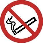 Piktogramm Zigarette durchgestrichen ISO