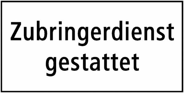 Zubringerdienst gestattet Zusatzzeichen Schweiz