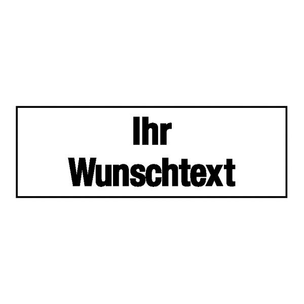 Zusatzschild Verkehrssignal mit Wunschtext