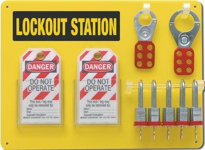 Offene Lockout-Tagout-Station mit Zubehör
