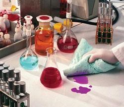 Chemikalien Sorbents beim Einsatz im Labor
