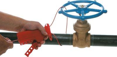 Verwendung der Kabelverriegelung an einem Handrad