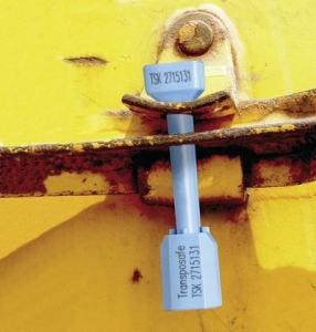 Bolzenplombe nach C-TPTAT und ISO 17713:2013 blau nummeriert