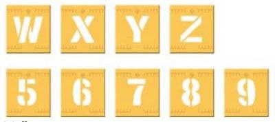 Buchstaben Schablonen aus Kunststoff