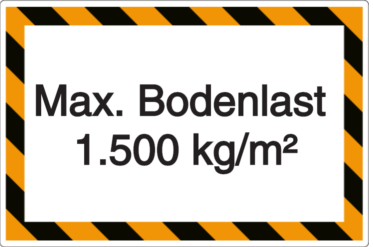 Vorlage: Max. Bodenlast 1.500 kg/m²