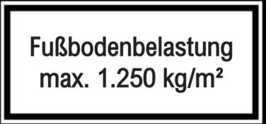 Vorlage: Fußbodenbelastung max. 1.250 kg/m²