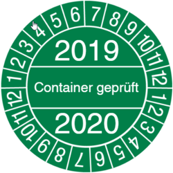 Container geprüft
