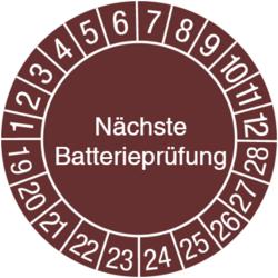 Nächste Batterieprüfung