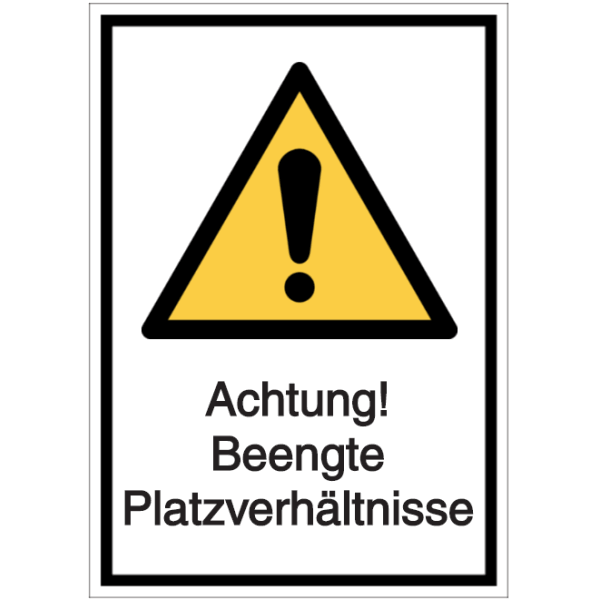 Vorlage: Achtung! Beengte Platzverhältnisse