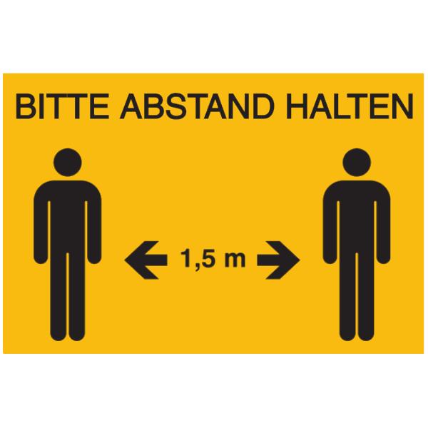Vorlage: Bitte Abstand halten