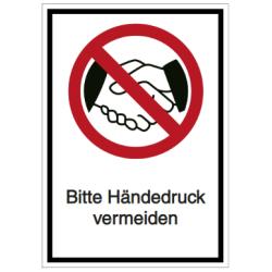Vorlage: Bitte Händedruck vermeiden