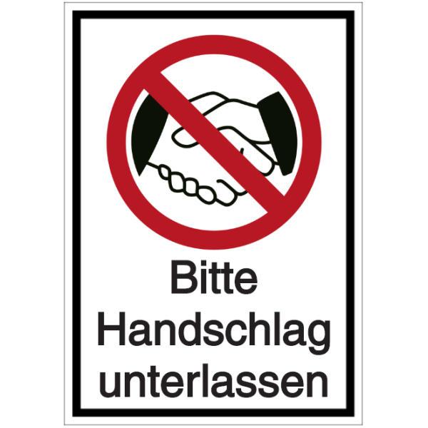 Vorlage: Bitte Handschlag unterlassen