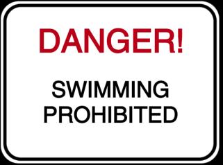 Vorlage: DANGER! SWIMMING PROHIBITED