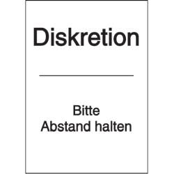 Vorlage: Diskretion - Bitte Abstand halten