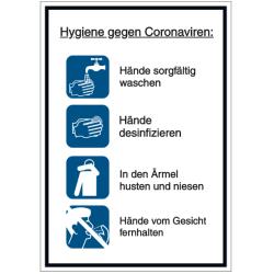 Vorlage: Hygieneanleitung - Hygiene gegen Coronaviren