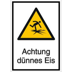 Vorlage: Kombi-Schild Achtung dünnes Eis!