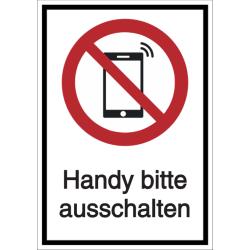Vorlage: Kombi-Verbotsschild Handy bitte ausschalten