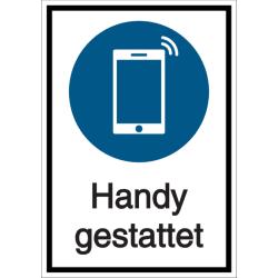 Vorlage: Kombi-Schild Handy gestattet