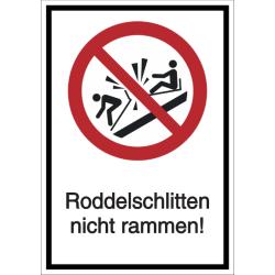Vorlage: Kombi-Schild Rodelschlitten nicht rammen!