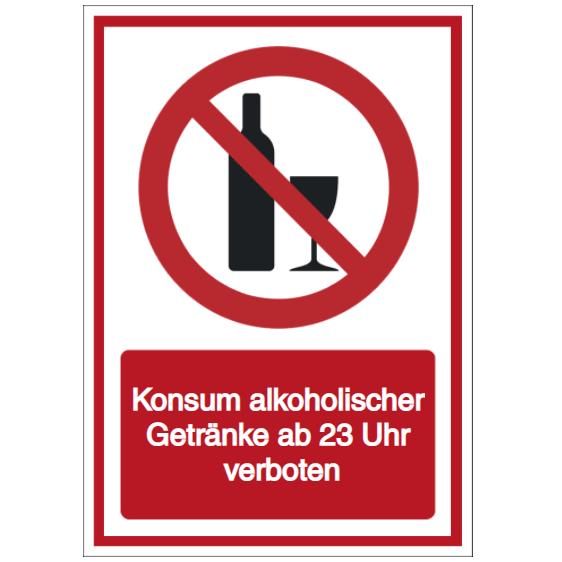 Vorlage: Konsum alkoholischer Getränke ab 23 Uhr verboten