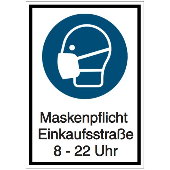 Vorlage: Maskenpflicht Einkaufsstraße – 8-22 Uhr