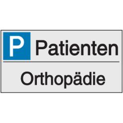 Vorlage: Parkplatzreservierung - Patienten Orthopädie