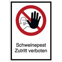 Vorlage: Schweinepest - Zutritt verboten