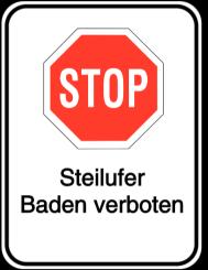 Vorlage: HALT! Steilufer-Baden verboten