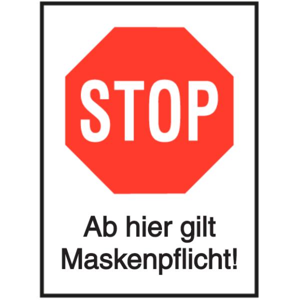 Vorlage: STOP - Ab hier gilt Maskenpflilcht!