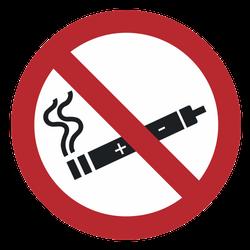 Vorlage: Symbol E-Zigarette rauchen verboten