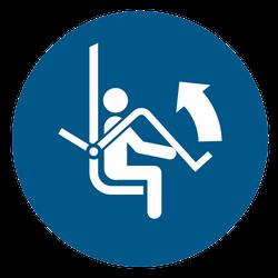 Vorlage: Symbol Sicherheitsbügel des Sessellifts öffnen