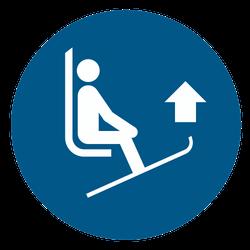 Vorlage: Symbol Skispitzen anheben
